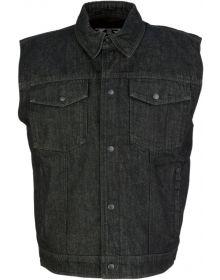 Z1R Denim Vest Black