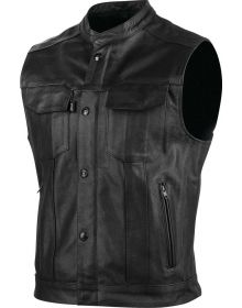 Speed and Strength Band Of Brothers Leather Vest Black