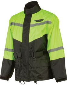 Fly Racing 2-Piece Rainsuit Black/HiVis