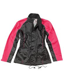 Joe Rocket RS-2 Womens Rainsuit Black/Pink