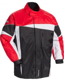 Tourmaster Defender 2.0 Two Piece Rainsuit Black/Red