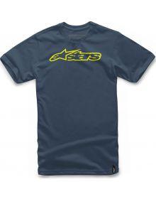 Alpinestars Blaze T-Shirt Navy/Yellow