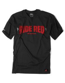 Factory Effex Honda Ride Red Bolted T-Shirt Black