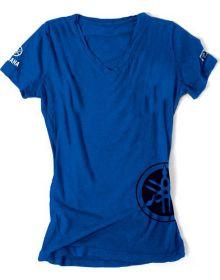 Factory Effex Yamaha Womens Fork T-Shirt Blue