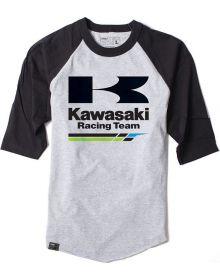 Factory Effex Kawasaki B-Ball T-Shirt Grey/Black