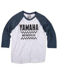 Factory Effex Yamaha Vet Baseball T-Shirt White/Navy