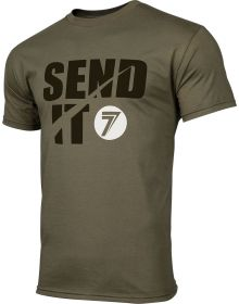Seven Send It T-shirt Military Green