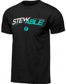 Seven Stewable T-Shirt Black
