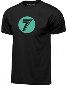 Seven Dot T-shirt Black/Mint