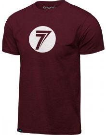Seven Dot T-shirt Burgundy Heather