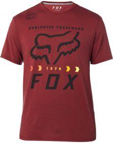 Fox Racing Murc Factory Tech T-Shirt Heather Red