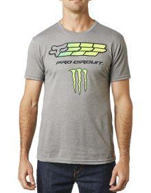 Fox Racing Monster/Pro Circuit T-Shirt Heather Graphite