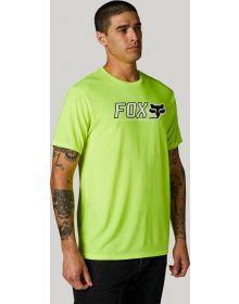 Fox Racing Cntro Tech T-shirt Flo-Yellow