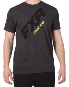 FXR CX T-Shirt Charcoal Heather/Hi Vis