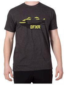 FXR Excursion T-Shirt Charcoal Heather/Hi Vis