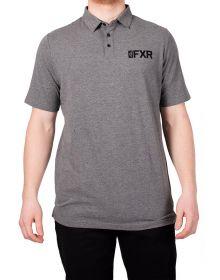 FXR Evo Tech Polo Shirt Grey Heather/Black