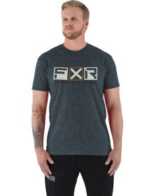 FXR Victory Tech T-Shirt Heather Steel/Bone