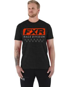 FXR Race Division T-Shirt Heather Charcoal/Lava