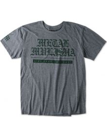 Metal Mulisha Old Days Custom T-shirt Heather Gray