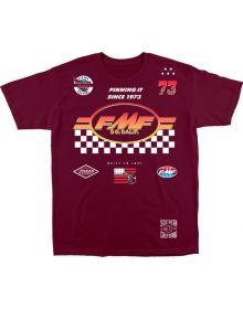 FMF Sponsored T-shirt Burgundy