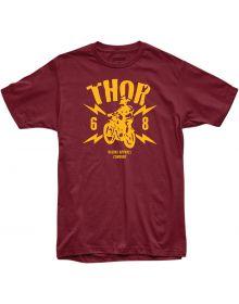 Thor Lightning T-Shirt Burgundy