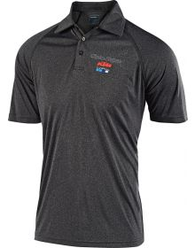 Troy Lee Designs KTM Team Event Polo Shirt Charcoal/Heather