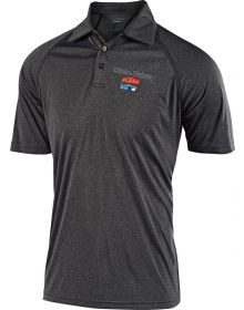 Troy Lee Designs KTM Team 2019 Event Polo Shirt Charcoal Heather