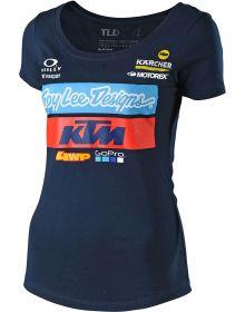 Troy Lee Designs KTM Team 2019 Womens T-shirt Navy