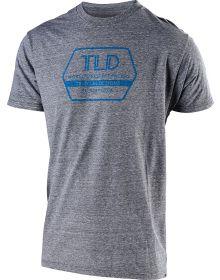 Troy Lee Designs Factory T-shirt Vintage Gray Snow/Cyan