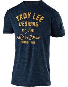 Troy Lee Designs Vintage Race Shop T-shirt Midnight Blue
