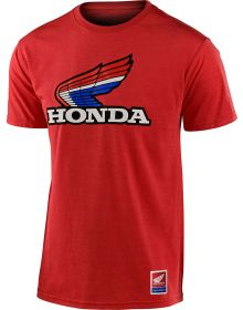 Troy Lee Designs Honda Retro Victory Wing T-shirt Red Heather