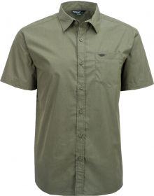 Fly Racing Button Up Short Sleeve Shirt Green