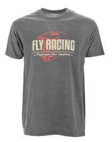Fly Racing Era T-Shirt Black Charcoal/Heather