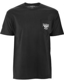 Fly Racing Pocket T-Shirt Black/Black