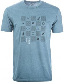 Fly Racing Checkers T-Shirt Indigo