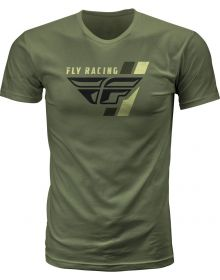Fly Racing Retro T-Shirt Military Green