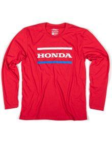 Factory Effex Honda Stripes Long Sleeve Shirt Red