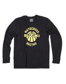 Factory Effex Suzuki Vet Long Sleeve Shirt Black