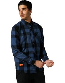 Fox Racing Voyd 2.0 Flannel Shirt Dark Indigo