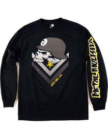 Metal Mulisha Brain Long Sleeve Shirt Black/Yellow