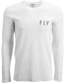 Fly Racing Thermal Long Sleeve T-Shirt White/Grey