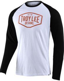 Troy Lee Designs Motor Oil Long Sleeve Shirt White/Black