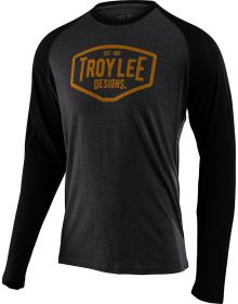 Troy Lee Designs Motor Oil Long Sleeve Shirt Charcoal/Black