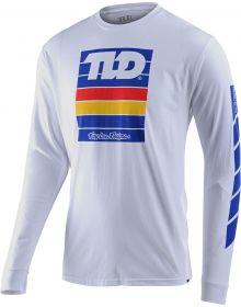 Troy Lee Designs Pregame Long Sleeve Shirt White