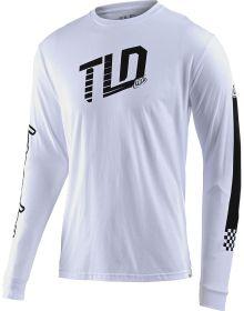 Troy Lee Designs Trackside Long Sleeve Shirt White