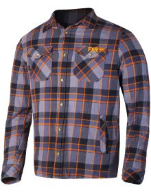 FXR 2018 Timber Plaid Flannel Charcoal/Orange
