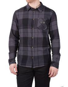 FXR Track Plaid Shirt Black/Grey