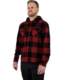 FXR Timber Hooded Flannel Shirt Rust/Black