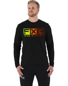FXR Helium Tech Longsleeve Shirt Black/Inferno