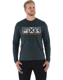 FXR Helium Tech Longsleeve Shirt Heather Steel/Orange